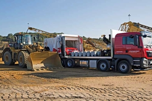 With the PFREUNDT calibration lorry, the<br />calibration service is performed at the customer's<br />premises<br />