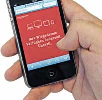 Users can access the required data with their smartphone at any time<br />