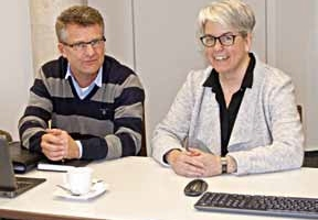 Katja Mattejat and Michael Buning, working<br />in marketing and sales at PFREUNDT GmbH<br /><br />