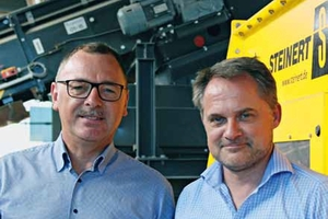 Luc Waignein, Head of R&D at Galloo; Karl Hoffmann, Key Account Manager at STEINERT