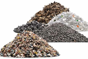 Applications 0–10 mm: ASR; PET Flakes; Dross; Incineration bottom ash; Electronic scrap (front to rear)