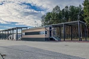 "<div class=""bildtext"">Entrance area to MBT<br />Marszów</div>"
