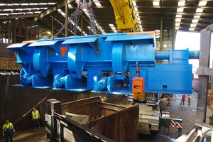The Münchenwiler location: installation of the latest shear in 2016 (the shear alone weigh 42tonnes)