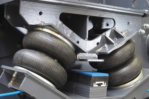 """<div class=""""bildtext_eng"""">The new air suspension system SmartSUSPENSION makes it possible to relocate vibrating machines without additional counter-oscillating frame with an isolation level of up to 99 % for the first time</div>"""