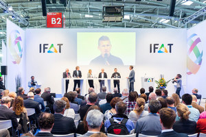 "<div class=""bildtext_eng"">Sustainable plastics management was one of IFAT's key issues, among other during the opening panel</div>"
