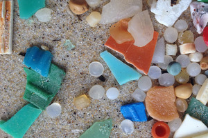 Microplastics on the Atlantic coast of France