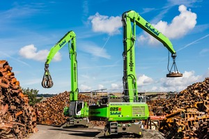 Quality pays off – this applies to its high-quality recycled materials as well as to the modern machinery of the SENNEBOGEN 825 E and 830 E material handlers