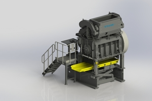 "<div class=""bildtext_eng"">Granulator Type ZMK2007 with hydraulically <br />actuated pendulum pusher</div>"
