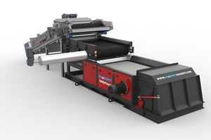 The newly developed conveyor feed with product distributor boosts yield of eddy current separator