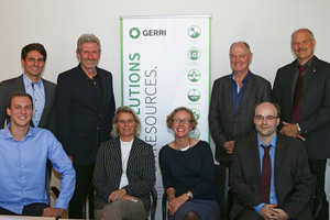 "The signatories of the articles founding the non-profit association ""German Resource Research Institute"" (left to right): Dr Andreas Stegmüller, Daniel Voigt, Prof. Dr Rudolf Stauber, Dr Elinor Rombach, Helene E. Köpf, Prof. Dr Dr Markus Reuter, Kai Rasenack, Prof. Dr Bernd Friedrich"