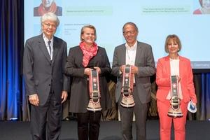 """<div class=""""bildtext_en"""">From left: Dr. Jean-Pol Wiaux, Prof. Kerstin Kuchta, Diedier Marginèdes, Gudula Schwan</div>"""