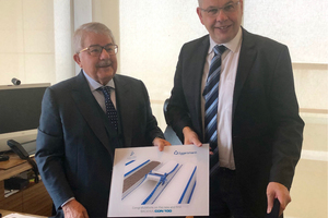 "<div class=""bildtext"">From left to right: Faruk Mustafa Rasool, Executive Board Chairman of the Faruk Group, and Karlgünter Eggersmann, Managing Director of the Eggersmann Group, after signing of the contract<br />in December 2018 at Suleymaniyah</div>"