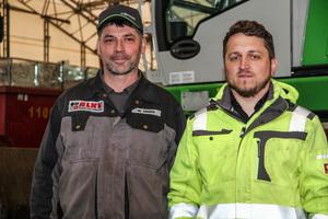 """<div class=""""bildtext"""">Matthias Lang, Geschäftsführer <br />der ALKU GmbH und Mike Ermer, Fahrer</div>"""