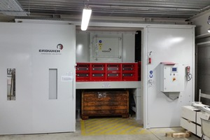 "<div class=""bildtext_en"">In the course of a modernization of the foundry hall, casting cells were replaced. In the process, the recycling process was also required to be optimised. Erdwich Zerkleinerungs-Systeme GmbH therefore developed a shredding plant for the BMW Group plant in Landshut to reduce the volume of rejects</div>"