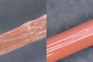"""<div class=""""bildtext"""">Mikroskopische Untersuchung von Dolly Ropes</div>"""