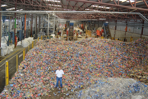 """<div class=""""bildtext_en"""">The collection and processing of PET was unknown in Honduras 20 years ago. Invema now processes 2000 tonnes of PET bottles every month to produce high-quality reground pellets, and film production is planned for the near future</div>"""