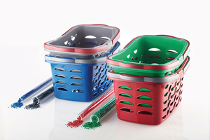 """<div class=""""bildtext_en"""">Attractively designed baskets made of 100% recycled material are popular with consumers </div>"""