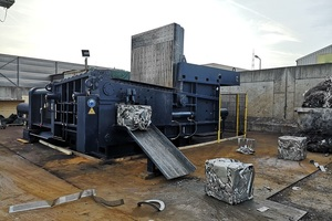 """<div class=""""bildtext_en"""">Digitalising the scrap yard: the new Arno Press D 500-3 baler is available with machine or process data collection </div>"""