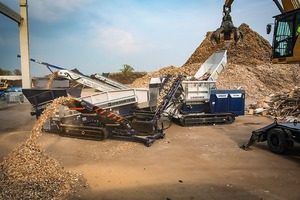 """<div class=""""bildtext_en"""">Throughput 25 t/h: the Lindner system solution with the Urraco 75DK shredder and Zeta Star 75F2DK screen will be demonstrated at the Wood&amp; Biomass special theme area in Karlsruhe</div>"""