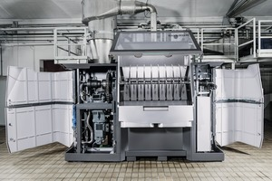 """<div class=""""bildtext_en""""><span class=""""bildnummer"""">6</span> Compact design– the space required by the discs in the CD Dryer is up to 60% smaller than that for the rollers of a comparable roller dryer with the same heat transfer area</div>"""