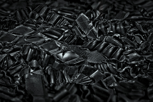 "<div class=""bildtext_en"">If the material to be sorted contains a mix of black plastics, it can be separated into pure-grade polymer fractions</div>"