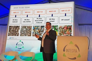 """<div class=""""bildtext_en"""">Kostas Ziogas, Sales&amp; Supplies Director at Integra Plastics explains the plastics recycling process of the plant, opened in February 2019</div>"""