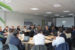 "<div class=""bildtext_en"">Prof. Reinhard Noll presents the EU project ADIR to a scientific-technical audience</div>"