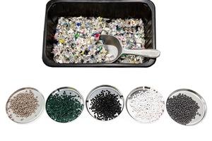 """<div class=""""bildtext"""">Die Regranulate stammen aus Kunststoffabfällen aus den dualen Systemen in Deutschland</div>"""