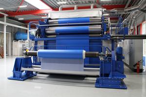 """<div class=""""bildtext_en"""">1 The new Nitta </div><div class=""""bildtext_en"""">production machine for PU belts with widths exceeding 3m</div>"""