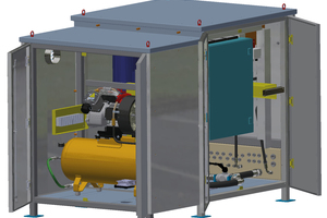 """<div class=""""bildtext_en"""">The basis Cube has a booster pump, up to six valve arrangements and the control unit. The system can be equipped with an anti-frost expulsion module, which is permanently connected to the base</div>"""