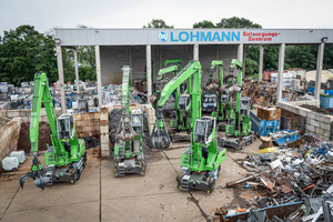 """<div class=""""bildtext_en"""">A total of nine material handlers are in use at Lohmann Entsorgung</div>"""