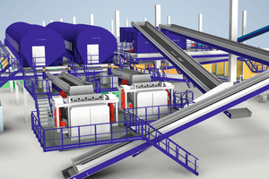 """<div class=""""bildtext_en"""">Drawing of the planned mechanical sorting plant from STADLER. The plant at the Jaboatão dos Guararapes Ecopark will be the largest mechanical sorting plant ever built </div><div class=""""bildtext_en"""">in Brazil</div>"""